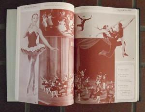 モノクロ(単色刷り)ページ・ニューヨーク・シティ・バレー団
