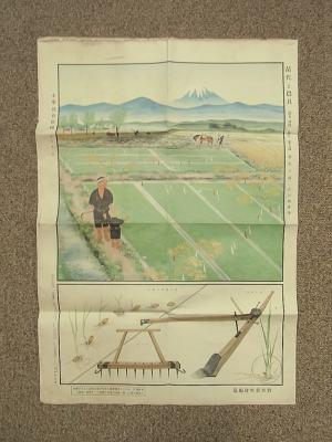 小学教育掛図 ; 第2輯 第10號 ; 苗代と農具