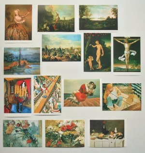 ドイツ美術500年展-デューラー、クラナッハから現代まで(1981)・絵はがき「踊子バルバラカンパニーニ(アントワーヌ・ペーヌ)」ほか