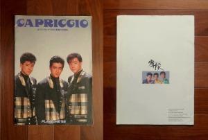 少年隊・パンフレット ; CAPRICCIO-カプリッチョ「天使と悪魔の狂想曲」-PLAYZONE'88
