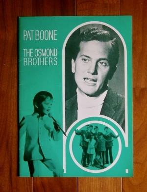 パット・ブーン&オズモンド・ブラザーズ・ジョイントリサイタル(1969.4)パンフレット