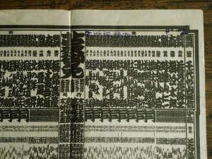 「昭和34年初場所」大相撲番付表